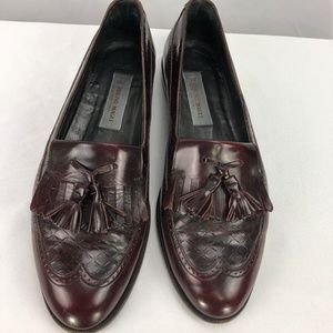 Bruno Magli Mens Burgundy Leather Dress Shoes 9.5D